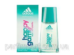 Adidas Happy Game EDT 30 ml Туалетная вода женская (оригинал подлинник  Испания)