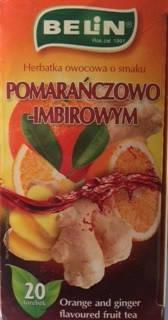 Чай фруктовый Belin  со вкусом апельсина-имбиря , 20 пак, фото 2
