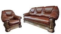 Кожаный комплект мебели Гризли без реклайнера, мягкая мебель, мебель в коже, кожаная мебель, комплект мебели