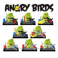 Фигурки Angry birds свиньи Лего 8 шт набор