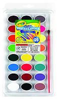 24 цвета акварельные краски washable watercolors, Crayola