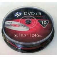 DVD+R диски HP емкостью 8.5Gb(240 минут) PRINTABLE