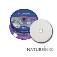 DVD+R диски VERBATIM емкостью 8.5Gb(240 минут) PRINTABLE