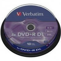 DVD+R диски VERBATIM емкостью 8.5Gb(240 минут)