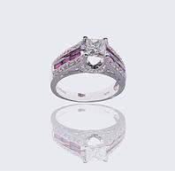 Золотое кольцо с рубинами и бриллиантами С25Л1№15