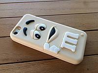 Силиконовый чехол-накладка M&M's для iPhone 5/5s/SE beige