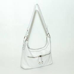 Кожаная женская сумочка 13 белый флотар 01130102
