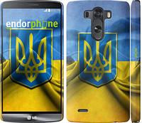 "Чехол на LG G3 D855 Флаг и герб Украины 1 ""375m-47"""