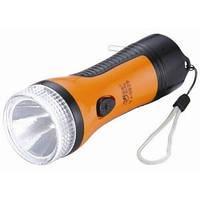 Мощный светодиодный фонарь, 2 режима яркости, зарядка от сети.