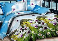 Комплект постельного белья евро (100% хлопок)
