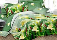 Хлопковое постельное белье (полуторка)