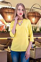 Блуза с имитацией баски М27 в расцветках