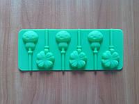 Форма силиконовая для конфет на палочке Клевер и Грибочки