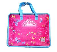 """Пластиковый портфель на змейке """"Принцесса"""", фото 1"""