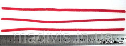Проволока синельная, 5 мм. красная