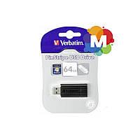 Флеш-драйв VERBATIM USB 3.0 64GB STORE'N'GO PINSTRIPE BLACK 49318