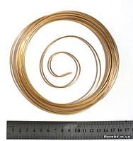 Проволока декоративная в мотке 2 мм., бронза