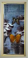 Картина с бабочками, по временам года  230х470х40