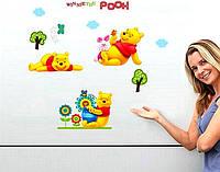Наклейка виниловая Винни Пух 3D декор