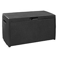 Ящик-сундук искуств. ротанг Storage Box Rattan, серый, фото 1