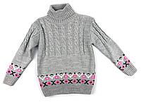 Детский вязаный свитер для девочки 98 р.