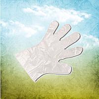 Перчатки одноразовые полиэтиленовые (100 шт в уп.)