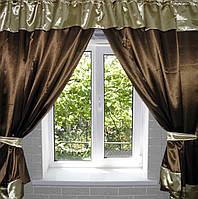 Комплект шторы атласные шторки  е085