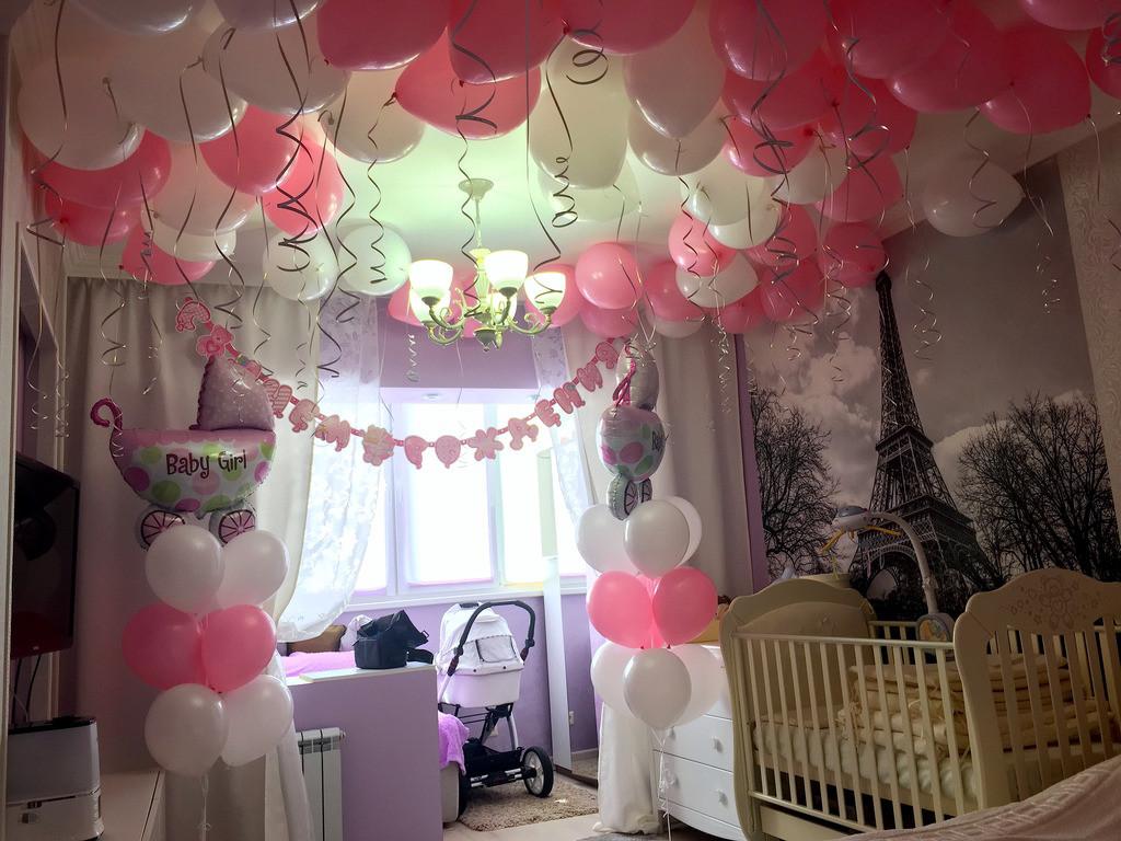 Оформление воздушными шарами, оформление квартиры