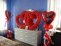 Оформление воздушными шарами, оформление квартиры, фото 1