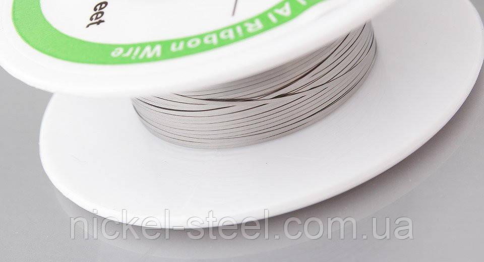 Плоский кантал 0,1х0,3 мм 10 метров