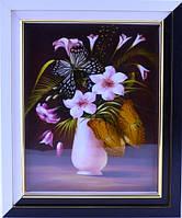 Картина с бабочками 240х290х40