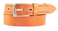 Ремень мужской под джинсы MASKO кожа оранжевый