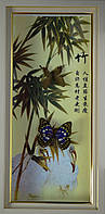 Картина с бабочками по временам года 230х470х40