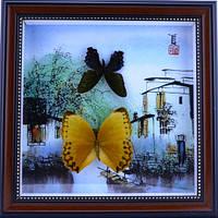 Картина с бабочками по временам года 280х280х30
