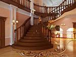 Деревянная лестница - украшение Вашего дома.