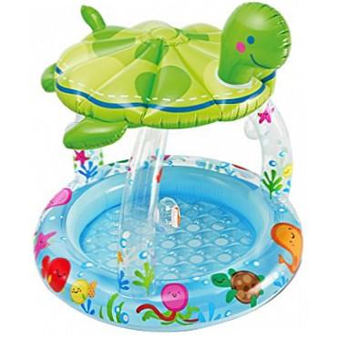 Надувной бассейн Черепашка с навесом Intex 57119