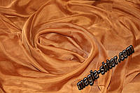 Тюль шифон коричневый