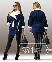 Кашемировое пальто больших размеров е-202280