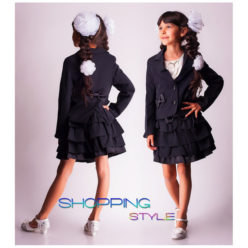 Нарядный школьный костюм для девочки