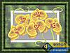 Схема для вышивки бисером - Желтые орхидеи, Арт. НБп4-074-3