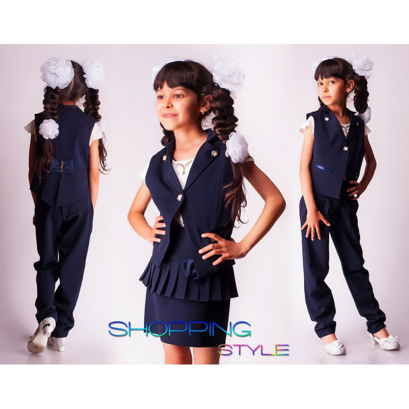 Детский школьный костюм тройка на девочку