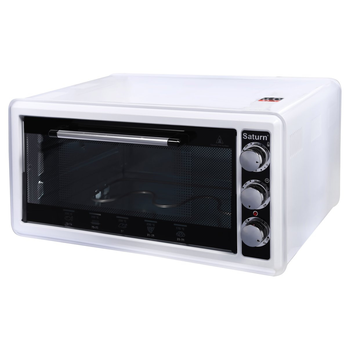 Электродуховка (электрическая печь+гриль) Saturn ST-EC1070 объемом 45 литров White (белая)