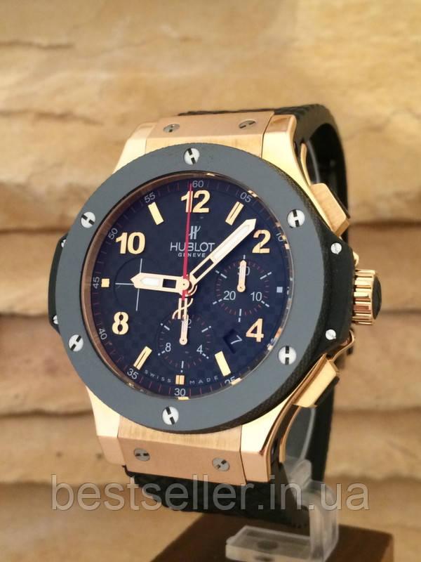 Часы Hublot Big Bang Rose Gold 18k (Механика). Реплика - Интернет-магазин 6285349dc8de0