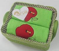 Набор полотенец 40х60 - 2шт. Arya  Aple салатовый