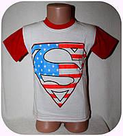 Комбинированная футболка для мальчика (от 3 до 7 лет)