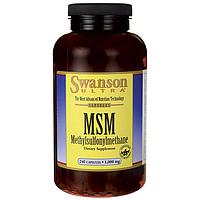 Метилсульфонилметан МСМ, Swanson, 1000 мг, 240 капсул