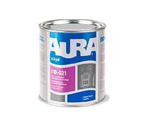Грунт алкидный AURA ГФ-021 антикоррозионный, серый, 0,9кг