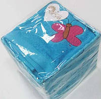 Набор полотенец 40х60 - 4шт. Arya Butterfly голубой