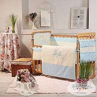 Набор в детскую кроватку Ангел голубой (6 предметов), фото 1