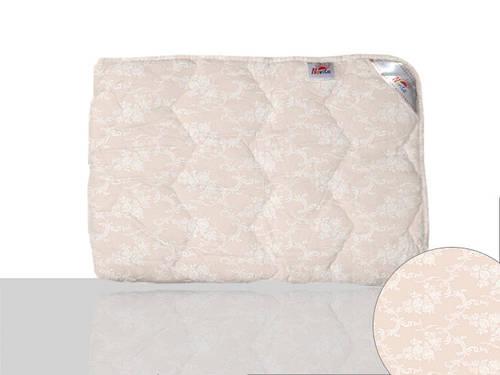 Одеяло шерстяное двуспальное (кремово-розовое)